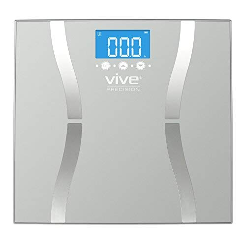 Vive Precision Bariatric Scale - BMI Body Fat Digital Bathroom Scale Calculates and Analyzes Weight and Electronic Composition Percentage - Accurate Reliable Home Measurement - Men, Women (Calculate Lean Body Mass Body Fat Percentage)