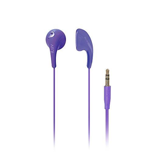 iLuv iEP205PUR Bubble Gum 2 Flexible, Jelly-Type Stereo Earphones - Purple