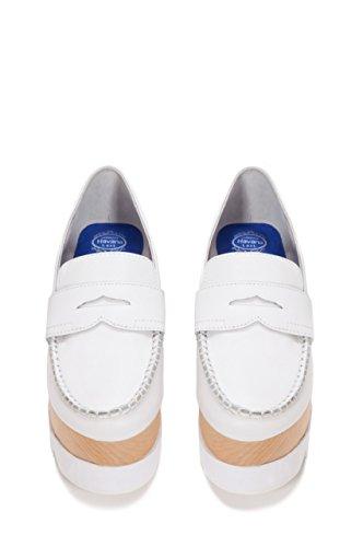 Jeffrey Campbell Kvinners Beignet Plattform Loafers Hvit / Hvit