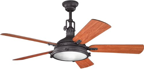 Kichler Drapes (Kichler 300018DBK 56-Inch Hatteras Bay Fan, Distressed Black)