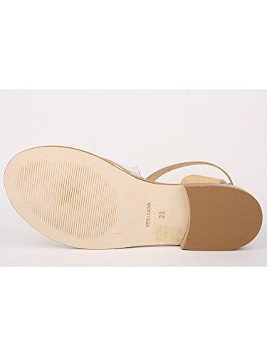 GRUNLAND - Sandalias de vestir para mujer Plata