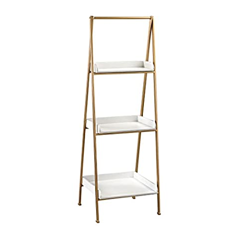 Hamptons Collection White and Gold Accent Shelf (White And Gold Shelves)