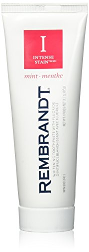Rembrandt Toothpaste, Intense Stain, Mint Flavor, 3-Ounce Tubes (Pack of 3)