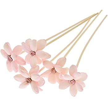 Towashine 5Pcs Flower Rattan Reed Fragrance Diffuser Replacement Refill Sticks for Home Fragrance (7
