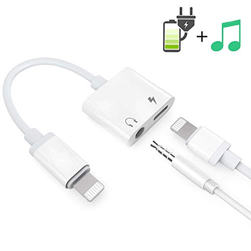 Headphone Adaptor for iPhone Besmon Converter Adapter Charger Adapter Cable with 3.5mm Dongle Earphone Aux Audio & Charge Compatible for iPhoneXR/XS/XS MAX/X/7/7P/8/8P