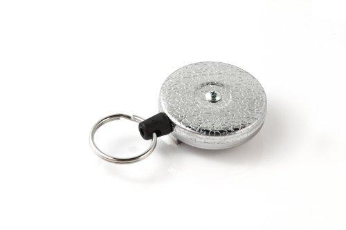 The Key-Bak Original 485R-HDK with 48 Kevlar Cord, Steel Belt Clip, 8 oz. Retraction Force & Split Ring (Chromed)