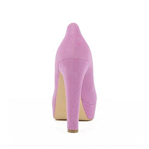 Escarpins Shoes Violet Daim Evita Riccarda Femme EAWwPX4q