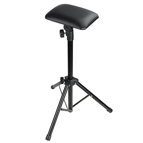 AW Tattoo Armrest Foldable Foam Pad Arm Bar Leg Rest Studio Stand Adjustable Height PVC Leather - Tattoo Arm