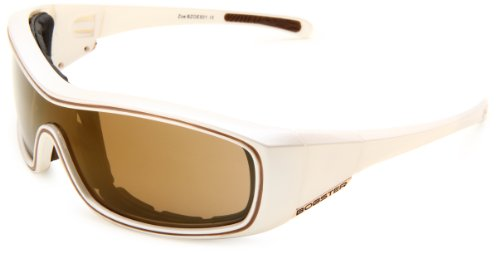 Bobster Zoe Convertible Oval Sunglasses,Pearl Frame/Gold Mirror Lens,One Size