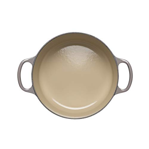 Le Creuset Enameled Cast Iron Signature Round Dutch Oven, 7.25 qt., Oyster Salted Salad