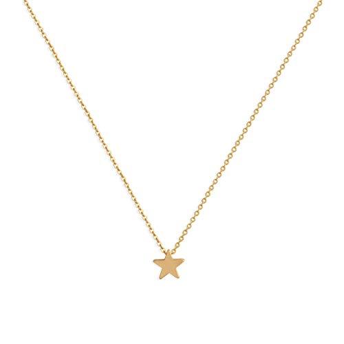LOYATA Lucky Star Pendant Necklace, 14K Gold Plated Dainty Delicate Charm Star Pendant Necklaces Jewelry for Women Girls (Gold Star) (G Star Kids)