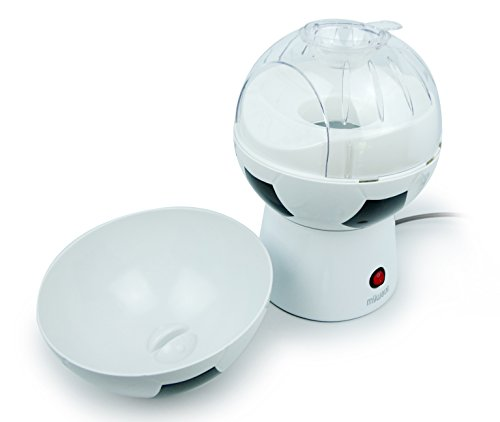 MyWave Máquina para Hacer Palomitas con Forma de Balón, Sin Aceite, 1200W. BPA free. Crujientes Palomitas en 3-5 Minutos. Blanco y Negro: Amazon.es: Hogar