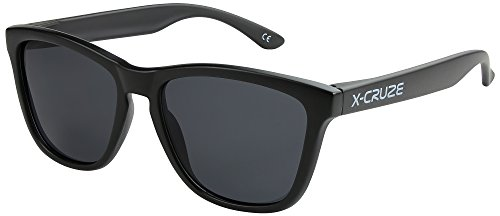 polarizadas sol negro CRUZE® Dama Unisex Hombre Retro de 003 Caballero LW negro Gafas Gafas Mujer Nerd 9 Vintage X estilo mate dXpTwqn0q