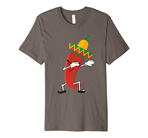 Dabbing Chili Pepper Shirt | Cute Dancing Red Chili Tee Gift ()