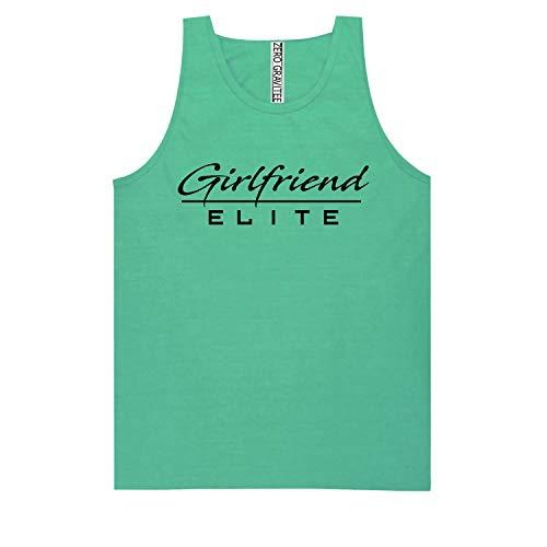 (Girlfriend Elite (Black) Adult Pigment Dye Tank Top in Seafoam - Medium)