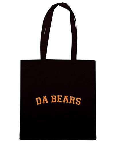 T-Shirtshock - Bolsa para la compra FUN1137 DA BEARS Negro