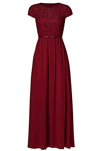 Ssyiz Custom Burgundy Formal Dresses,10 (Long Mother Bridesmaid Dress)