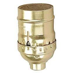 Leviton C20-09347-000 Polished Gilt Switchless Lamp Socket Polished Gilt