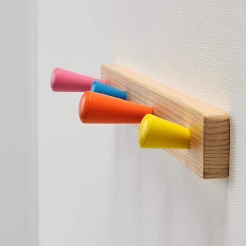 IKEA FLISAT perilla rack con 4 perillas, hecho de madera ...