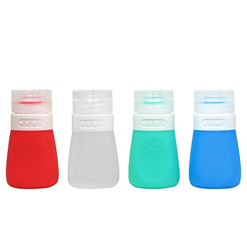 YINGGG Squeezy Portable Salad Dressing Bottles, Set of 4 (55ML)