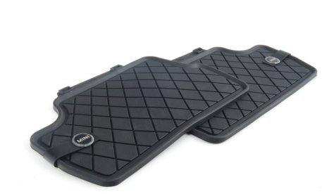 MINI Essential Black All Weather Floor Mats - Rear by MINI Cooper