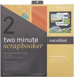 Two Minute Scrapbooker 12 Inch x12 Inch Page Kit - Vacation