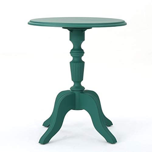Great Deal Furniture Eco-Cross | Outdoor Side Table | Recycled Nylon | Perfect for Patio | in Magnolia Green
