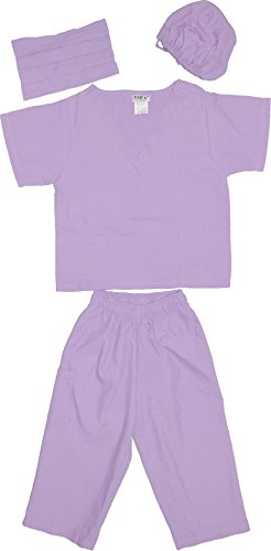 Kids Doctor Dress up Surgeon Costume Set, 2T/3T, Lavender]()