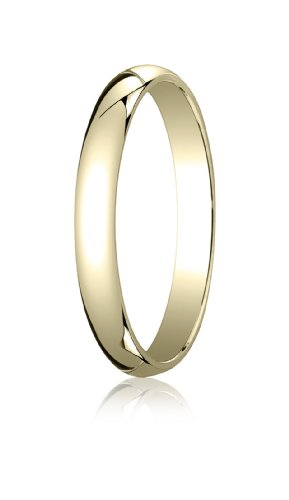Womens 18K Yellow Gold, 3.0mm Traditional Dome Oval Ring (sz 8) ()