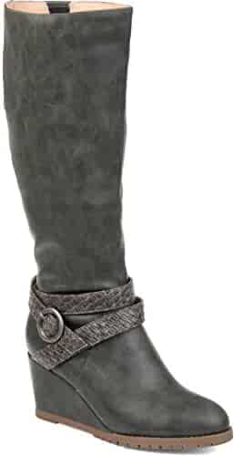 3a8f5f21be5b7 Journee Collection Comfort Womens Garin Boot Grey, 11 Extra Wide Calf US