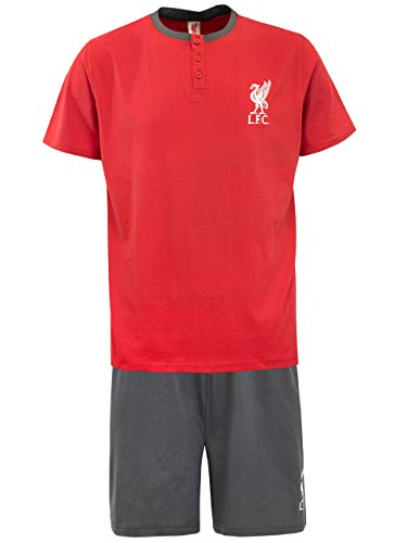 (Liverpool FC Mens Football Club Pajamas Size Size Large Red)