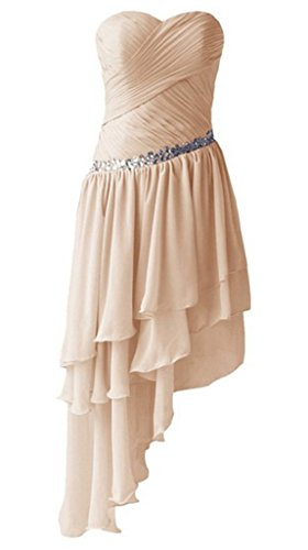 Champagne Chiffon Kleid Sweetheart Damen Ball emmani 4p0wn