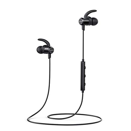 Bluetooth Headphones, Anker SoundBuds Slim Wireless Headphones, IPX7 Waterproof, 10H Playtime, Bluetooth 5.0, Magnetic Wireless Earbuds, Bluetooth Earbuds for Workout , Sports, Running, Gym