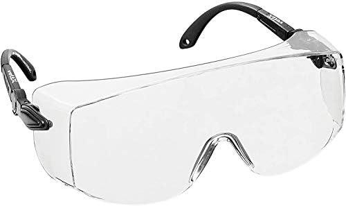 voltX OVERSPECS' Groot Formaat Industrile OverzetveiligheidsbrilCE EN166f Gecertificeerd Doorzichtige LensIndividueel Verstelbare TipsAntiMist Coating Krasbestendig UVbescherming