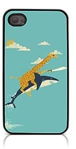 HeartCase Hard Case for Iphone 4 4G 4S (Cute Giraffe Animal )
