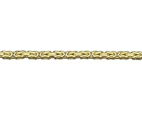 9ct or jaune 2Byzantine 19,1cm/Bracelet 19cm