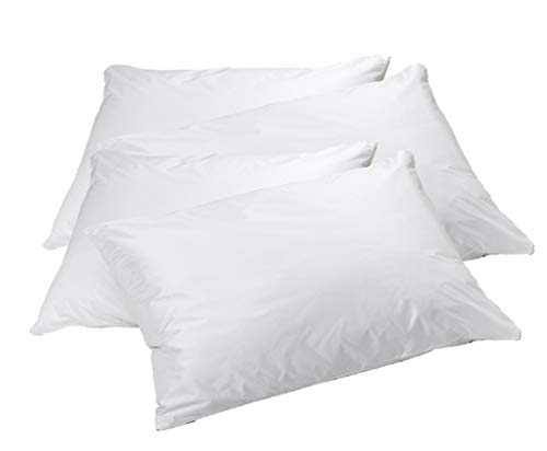 (Italian Collection DELUXE Vinyl Pillow Protector with Zipper, 2 Pillow Covers)