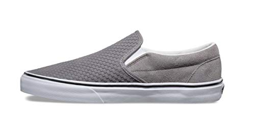 Pictures of Vans Men's Embossed Suede Slip-On Frost Gray True White 4