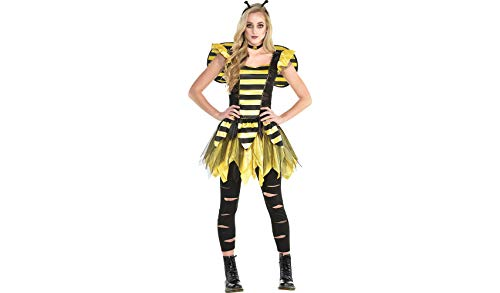 Zom-Bee Halloween Costume for Women, Medium, with Included Accessories, by Amscan