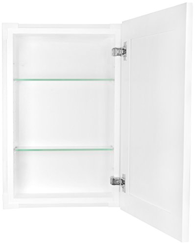 WG Wood Products FR-224-White Shaker Style Frameless Recessed In Wall Bathroom Medicine Storage Cabinet-Multiple Finishes, White Enamel/Glossy by WG Wood Products (Image #1)