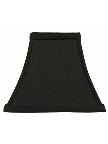 Upgradelights 12 Inch Black Silk Tapered Square Bell Lampshade Replacement (6x12x10) by Upgradelights