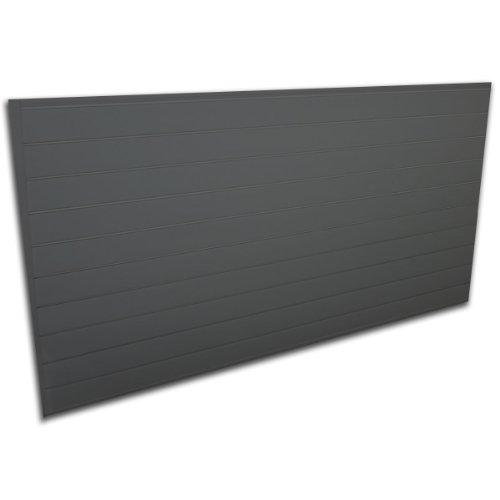 Proslat 88105 Heavy Duty PVC Slatwall Garage Organizer, 8-Feet by 4-Feet Section, Charcoal by Proslat