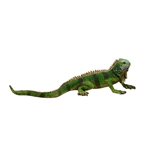 Large Green Iguana Figure Pet Lizard Pond Statue Reptile Garden Decor