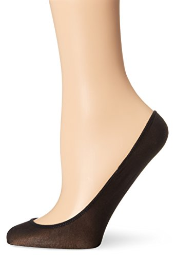 No Nonsense Women's Very Sheer Liner Sock 3-Pack, Black, One Size