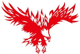 1 Piece Car Laptop Decal Sticker Eagle Red 10''*7''