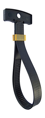 Patch Lock Keeper (Buckle Tie Straps, Handler Model 100 lb Plastic Extension Cord Carry Strap, Hose / Rope / Cable / Cord Organizer, Strong locking Design, Reusable, Adjustable 1-4 inch, One Size Fits All Pack of 3)