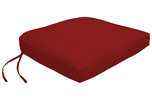 Custom x Easy Way Products 19301U-F5403 Contour Dining Chair Cushion, 18x21 Jockey Red (Custom Sunbrella Cushions)