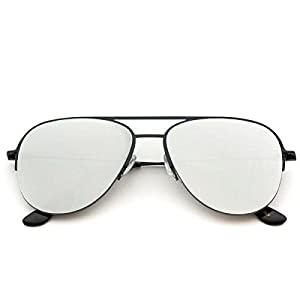 Aviator Full Silver Mirror Metal Frame Sunglasses