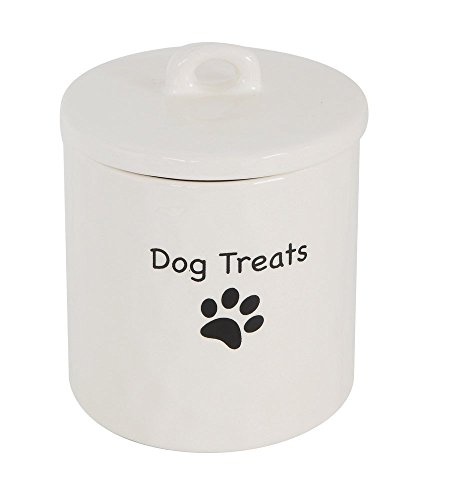Dog Treats Paw Print Canister