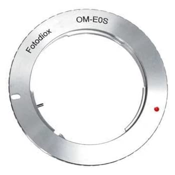 Fotodiox Lens Mount Adapter - Olympus Zuiko (OM) 35mm SLR Lens to Canon EOS (EF, EF-S) Mount SLR Camera Body